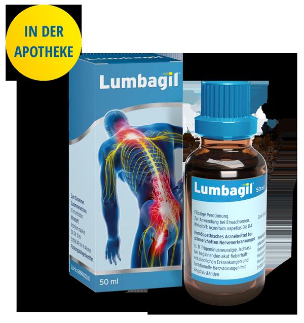 Lumbagil Verpackung + Flasche Apotheke